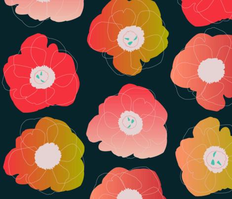 pop pop black fabric by makemightswave on Spoonflower - custom fabric
