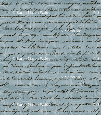 Dangerous Liaisons ~ Valmont Blue Moire with Black Script