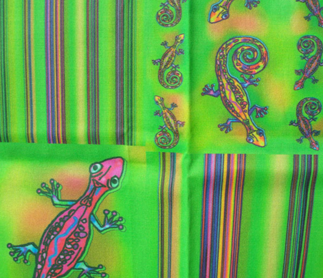 LIZARD GECKO GREEN COMBO 4 FAT QUARTERS