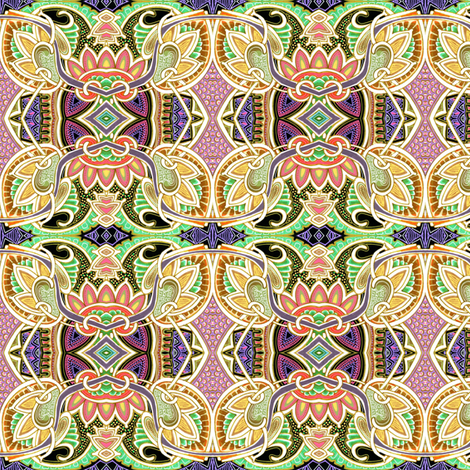 Sine of the Lotus fabric by edsel2084 on Spoonflower - custom fabric