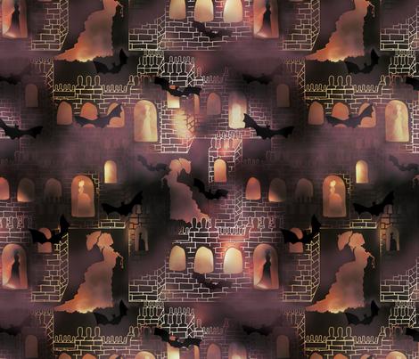 hellish castle fabric by kociara on Spoonflower - custom fabric