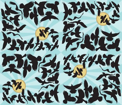 Blackbird_Pie fabric by aalk on Spoonflower - custom fabric
