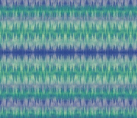 ocean waves ikat fabric by glimmericks on Spoonflower - custom fabric