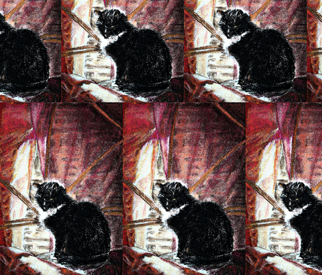 CAT'S QUIETNESS fabric by paysmage on Spoonflower - custom fabric