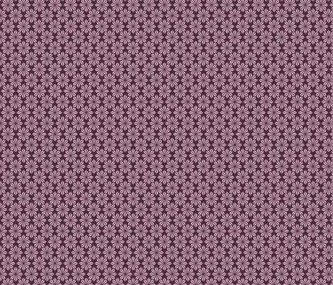 Plum deco geometric floral fabric by crowlands on Spoonflower - custom fabric
