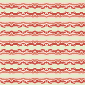 Bacon stripes on beige