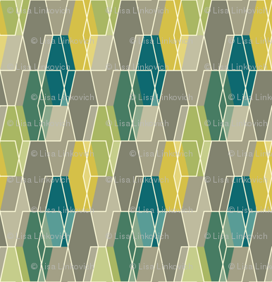 Elongated Hexagon Composite - Green