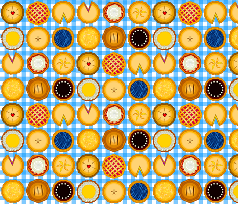Pie-O-My fabric by pinkcats on Spoonflower - custom fabric