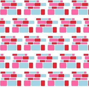Broken Mosaic (Turquoise/Pink/Red)