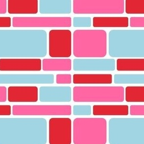 Mosaic (Turquoise/Pink/Red)