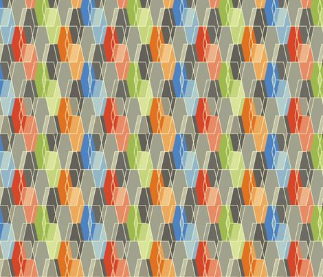 Elongated Hexagon Composite fabric by linkolisa on Spoonflower - custom fabric