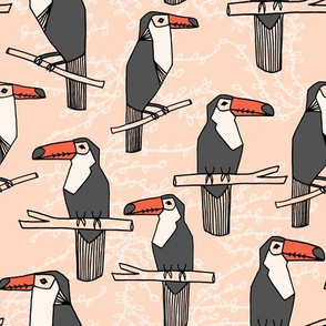 toucans // toucan tropical bird tropical fabrics palms palm print andrea lauren