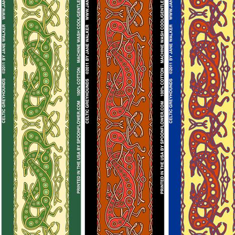 Celtic Knot Greyhounds © Jane Walker fabric by artbyjanewalker on Spoonflower - custom fabric