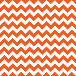 Orange and White Zigzag