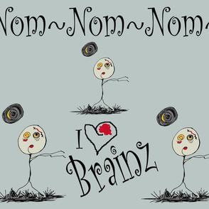 Zombies Nom Nom zombie love