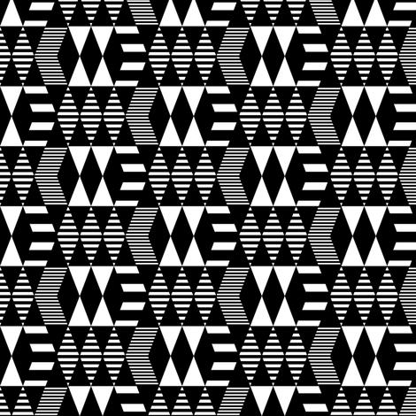 Black & White Geometrics fabric by kimsa on Spoonflower - custom fabric