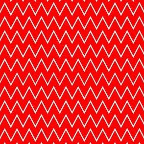 Red & White Zig Zag