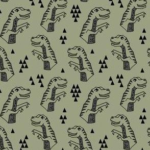 dinosaurs // dino dinosaur kids boys artichoke green trex prehistoric