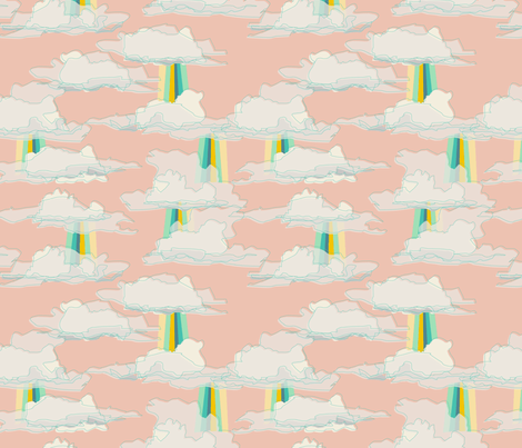 beam pink fabric by makemightswave on Spoonflower - custom fabric