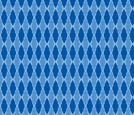 Diamonds Forever Navy/Sky Blue/Baby Blue fabric by serendipity_textiles on Spoonflower - custom fabric