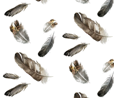 Floating Feathers fabric by jodyvanb on Spoonflower - custom fabric