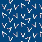 V for Victory - Blue