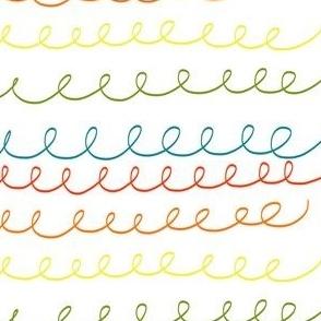 Rainbow doodle thin
