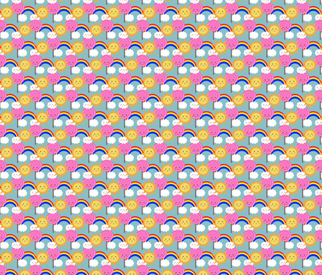 Sun Lolly Rainbows fabric by leeleeandthebee on Spoonflower - custom fabric