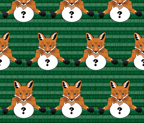 What does the fox say? fabric by unicornusrex on Spoonflower - custom fabric