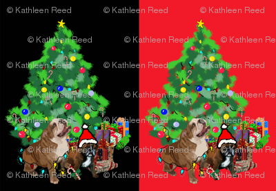 bulldog_christmas_fabric