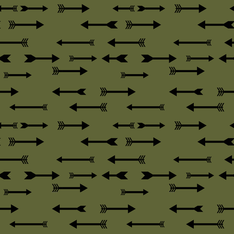 arrow_moss_black fabric by lpt-workshop on Spoonflower - custom fabric