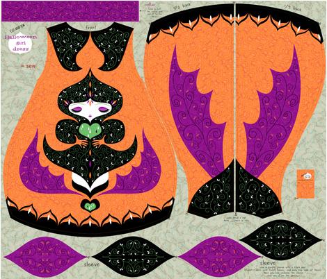 halloween-dragon-dress fabric by gaiamarfurt on Spoonflower - custom fabric
