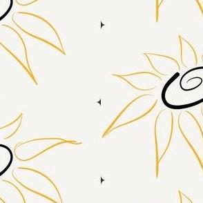 Swirled sunflowers