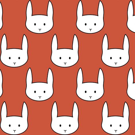 Red Rabbit fabric by mrshervi on Spoonflower - custom fabric
