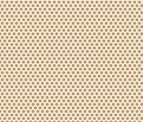 DotsTan fabric by jolenebalyeatdesigns on Spoonflower - custom fabric