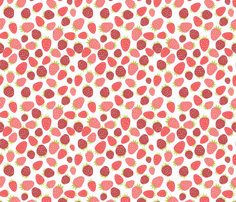 Strawberry Fiesta fabric by emilyannstudio on Spoonflower - custom fabric
