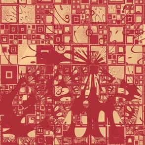 Geranium Reds Abstract 2 © Gingezel™ 2014