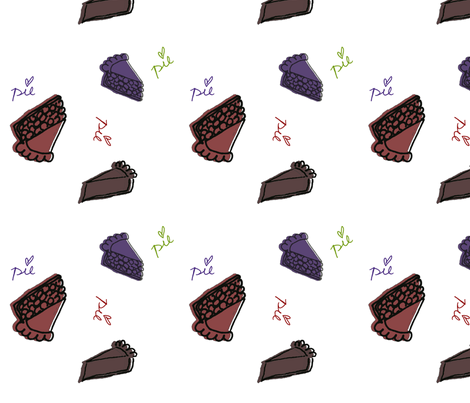 I love pie! fabric by cafecrafty on Spoonflower - custom fabric