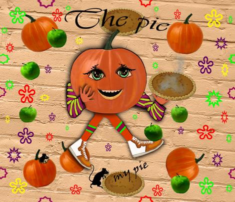 Pumpkin pie fabric by kittie_vanderwalt on Spoonflower - custom fabric