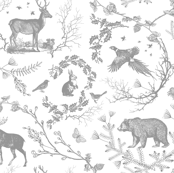 Winter Toile(grey and white)