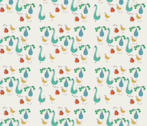 Fantastical birds fabric by samdraws on Spoonflower - custom fabric