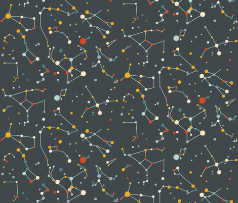 Starry Sky (Colourful-Grey) fabric by marmalademoon on Spoonflower - custom fabric