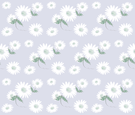 Daisy Lazy Dragonflies fabric by therustichome on Spoonflower - custom fabric