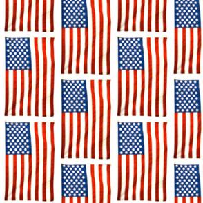 US Flag Blurred White Outline, Offset