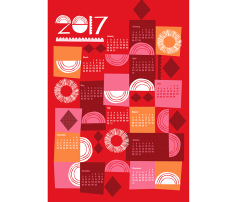 2017 juxtaposition tea towel calendar-27 inch