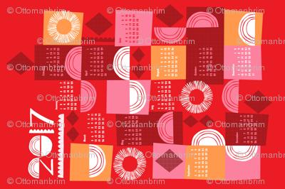 2017 juxtaposition tea towel calendar-27 inch