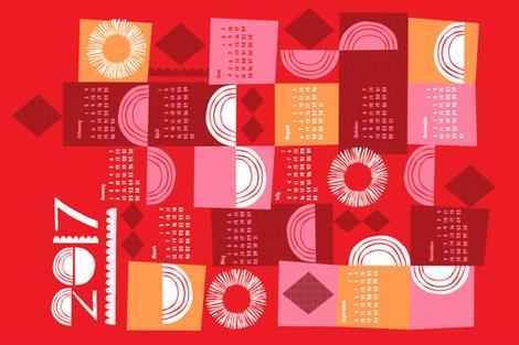 2017 juxtaposition tea towel calendar-27 inch fabric by ottomanbrim on Spoonflower - custom fabric