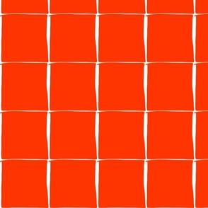 in rainbows - burnt orange blocks