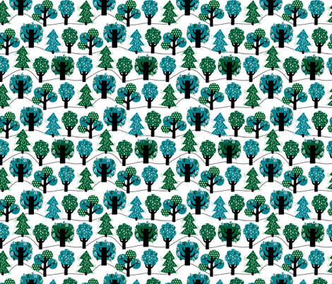 Winter forest fabric by valendji on Spoonflower - custom fabric