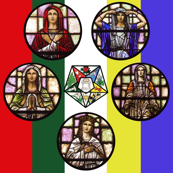 OES Order of Eastern Star Stained Glass Colors